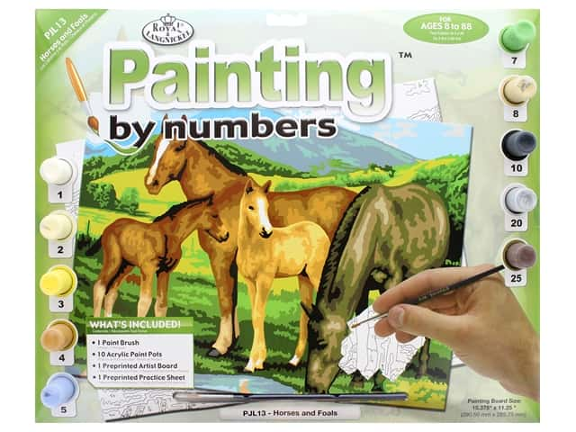 Royal Paint By Number Junior Large Horses & Foals