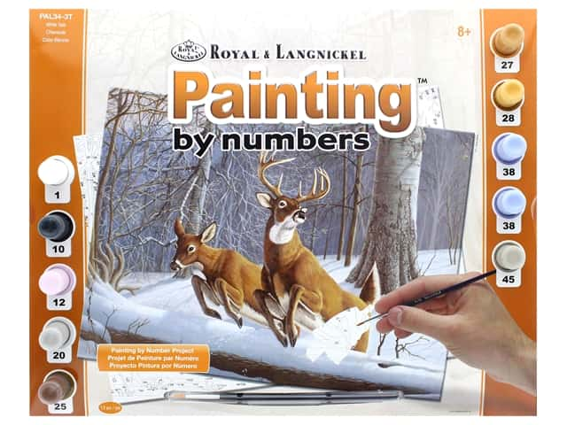 Royal Paint By Number Adult Large White Tails