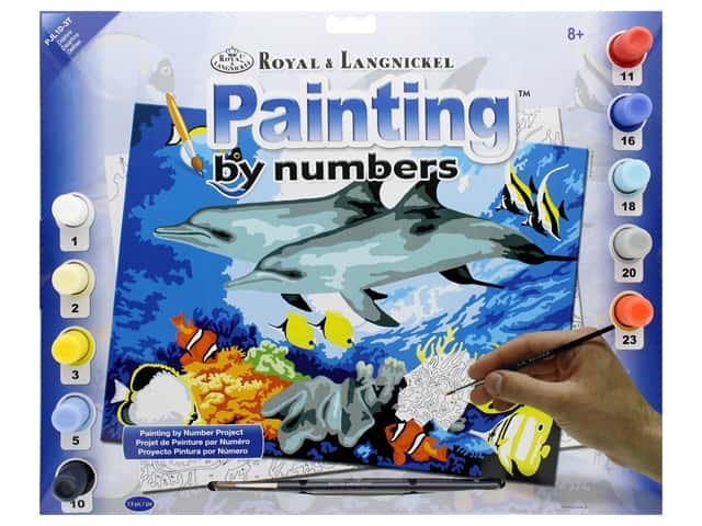 Royal Paint By Number Junior Large Dolphins