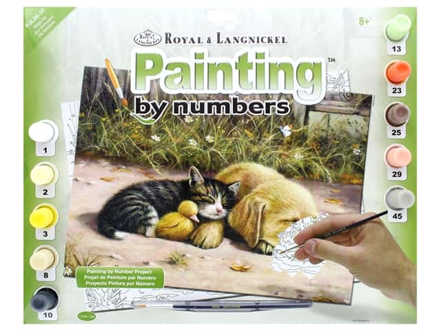 Royal Paint By Number Junior Large Sleepy Day