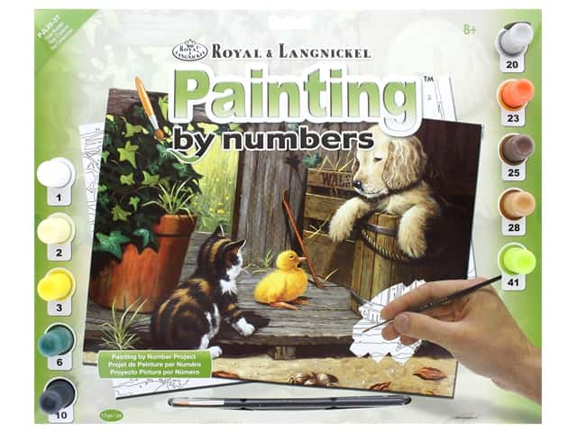 Royal Paint By Number Junior Large Three Buddies