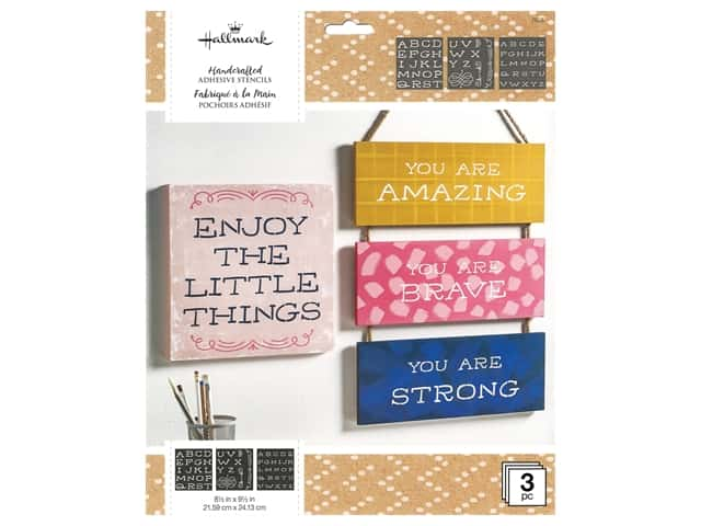 Plaid Hallmark Handcrafted Adhesive Stencils 8 1/2 x 9 1/2 in. So Happy Font