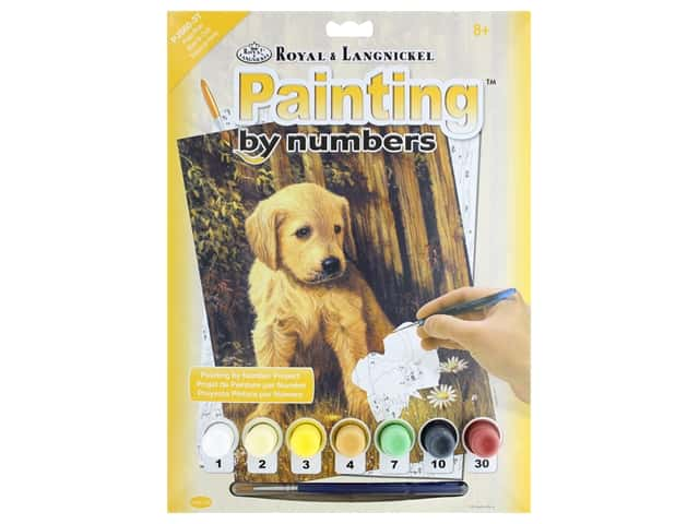 Royal Paint By Number Junior Small Puppy Blues