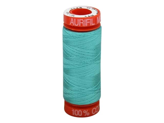 Aurifil Mako Cotton Quilting Thread 50 wt.  #1148 Medium Teal 220 yd.
