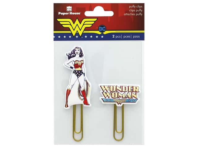 Paper House Collection Life Organized Puffy Clips DC Comics Wonder Woman