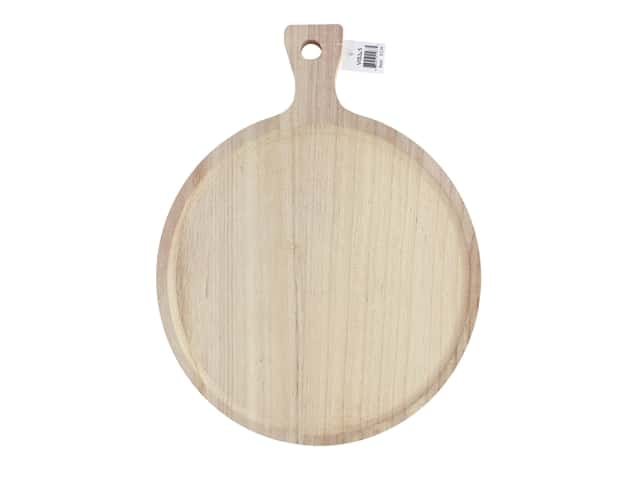 "Sierra Pacific Crafts Wood Cheeseboard Circular Inset 9.5""x 12.5"" Unfinished"
