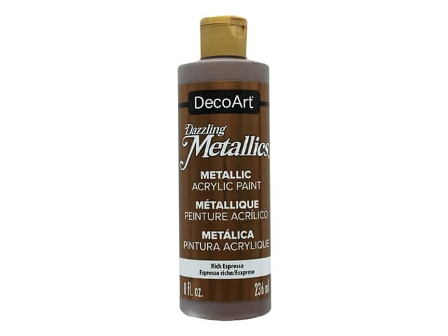 DecoArt Dazzling Metallics Paint 8 oz Rich Espresso