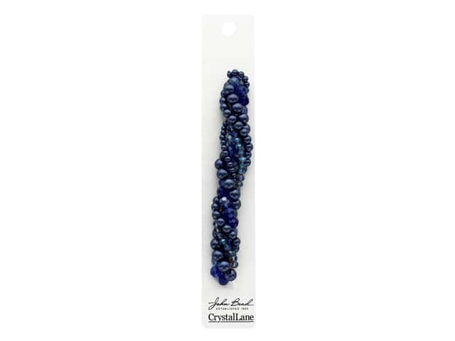 John Bead Glass Bead Crystal Lane Twisted Forget-Me-Knot