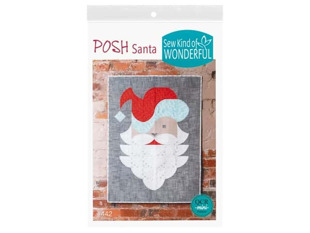 Sew Kind Of Wonderful QCR Mini Posh Santa Pattern