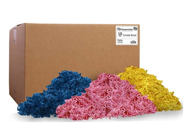 PA Essentials Crinkle Shred 10 lb. Fiesta