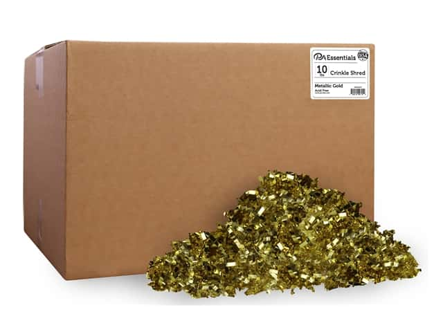 PA Essentials Crinkle Shred 10 lb. Metallic Gold