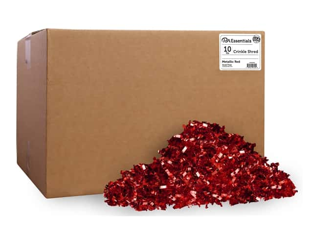PA Essentials Crinkle Shred 10 lb. Metallic Red