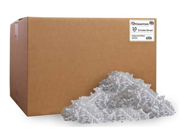 PA Essentials Crinkle Shred 10 lb. Iridescent White