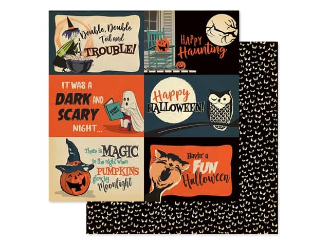 """Carta Bella Collection Happy Halloween Paper 12""""x 12"""" Journaling Cards 4""""x 6"""""""