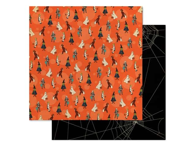 """Carta Bella Collection Happy Halloween Paper 12""""x 12"""" Trick Or Treaters"""