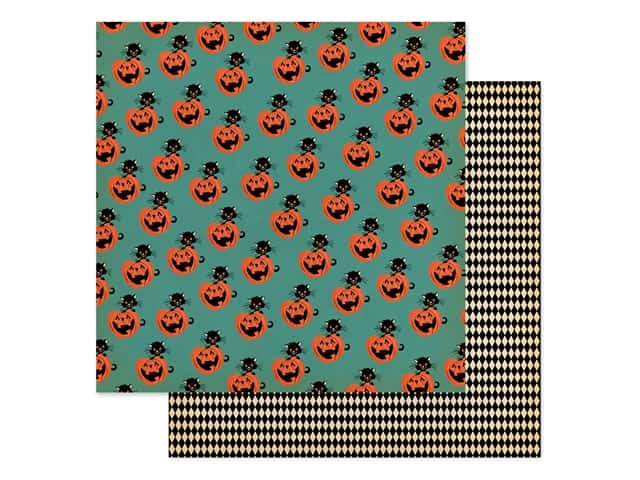 """Carta Bella Collection Happy Halloween Paper 12""""x 12"""" Toil & Trouble"""