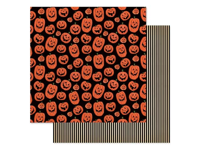 """Carta Bella Collection Happy Halloween Paper 12""""x 12"""" Laughing Pumpkins"""