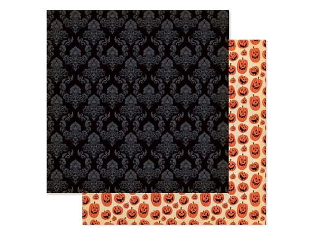 """Carta Bella Collection Happy Halloween Paper 12""""x 12"""" Ghostly"""