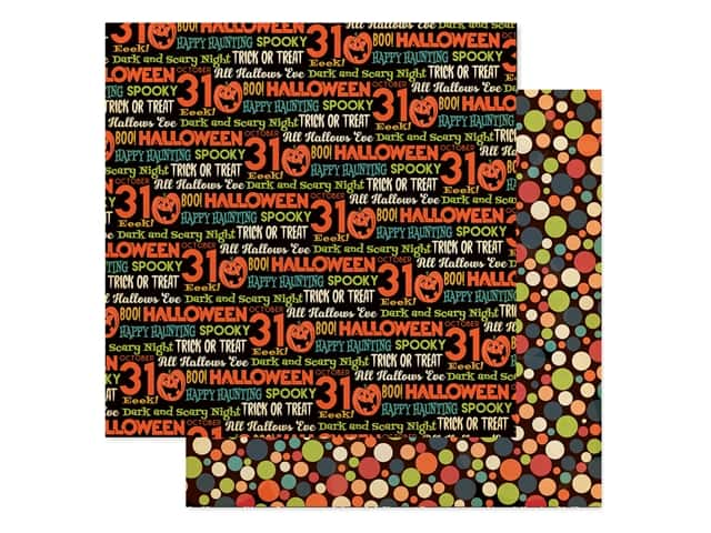 """Carta Bella Collection Happy Halloween Paper 12""""x 12"""" Hallows Eve"""