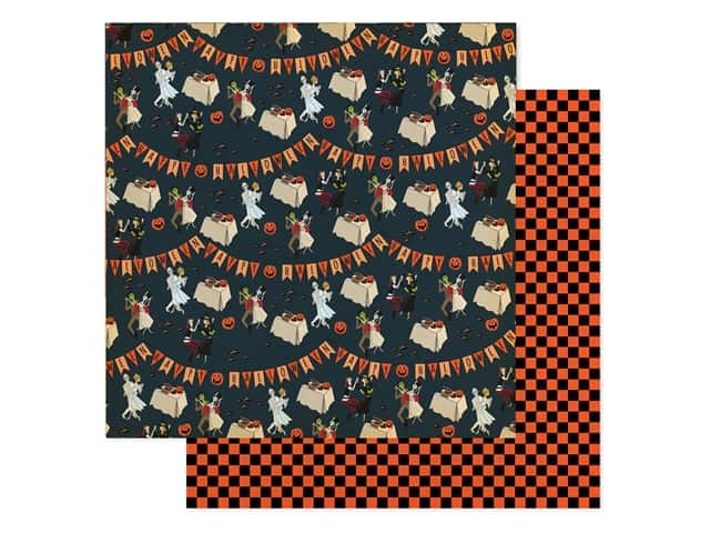 """Carta Bella Collection Happy Halloween Paper 12""""x 12"""" Costume Party"""