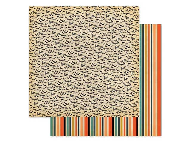 Carta Bella Collection Happy Halloween Paper 12 in. x 12 in. Bats Galore