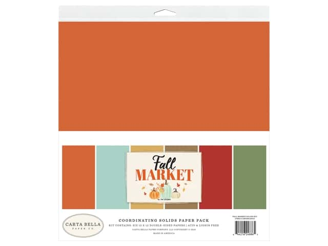 "Carta Bella Collection Fall Market Solid Kit 12""x 12"""