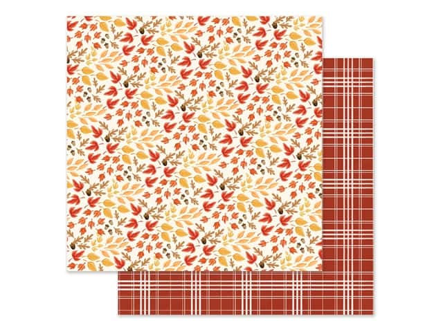 "Carta Bella Collection Fall Market Paper 12""x 12"" Rustling Leaves"