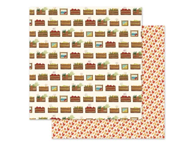 "Carta Bella Collection Fall Market Paper 12""x 12"" Harvest Crates"