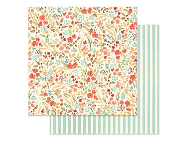 "Carta Bella Collection Fall Market Paper 12""x 12"" Fall Floral"