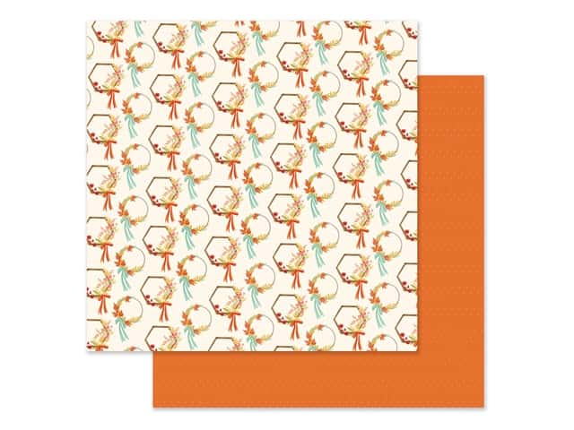 "Carta Bella Collection Fall Market Paper 12""x 12"" Wreaths"