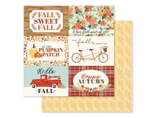 "Carta Bella Collection Fall Market Paper 12""x 12"" Journaling Card 4""x 6"""