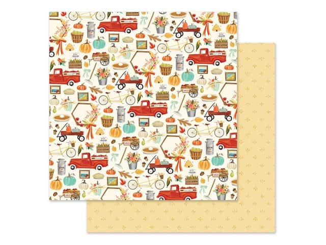 "Carta Bella Collection Fall Market Paper 12""x 12"" Happy Harvest"