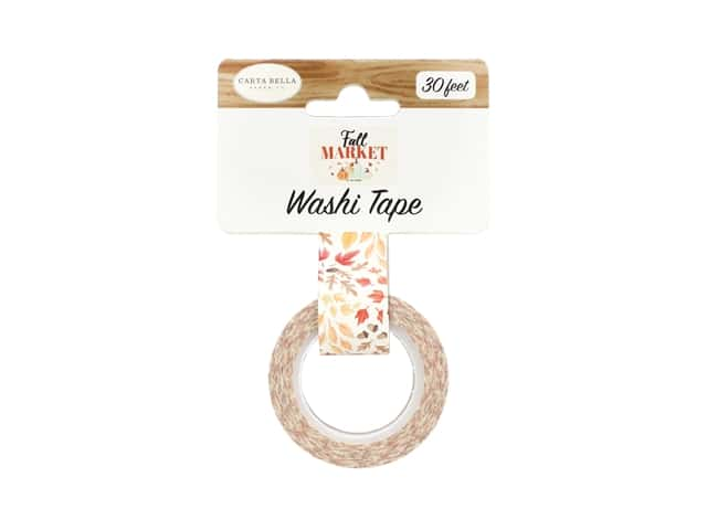 Carta Bella Collection Fall Market Washi Tape Whisking Leaves