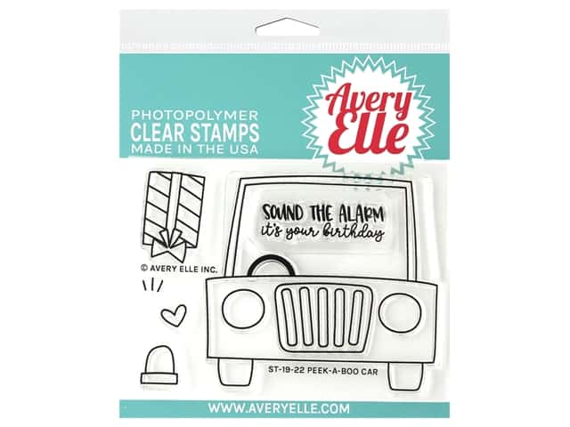 Avery Elle Clear Stamp Peek A Boo Car