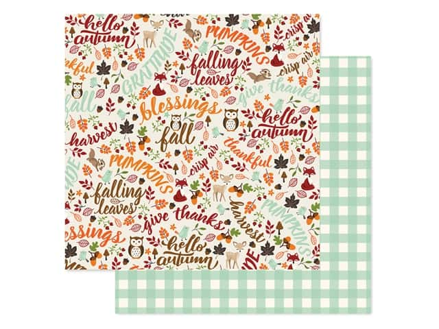 "Echo Park Collection My Favorite Fall Paper 12""x 12"" Hello Autumn"