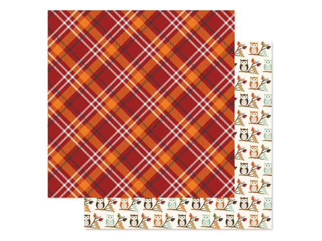 "Echo Park Collection My Favorite Fall Paper 12""x 12"" Fall Plaid"
