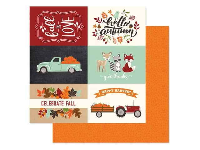 "Echo Park Collection My Favorite Fall Paper 12""x 12"" Journaling Cards 4""x 6"" Horizontal"