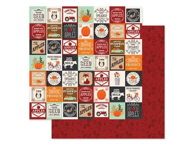 "Echo Park Collection My Favorite Fall Paper 12""x 12"" Farm Square"