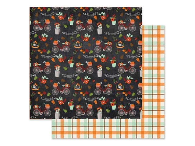 "Echo Park Collection My Favorite Fall Paper 12""x 12"" Fall In Air"