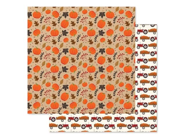Echo Park Collection My Favorite Fall Paper 12 in. x 12 in. Pumpkin Patch