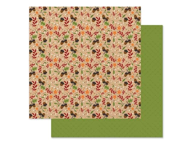 "Echo Park Collection My Favorite Fall Paper 12""x 12"" Autumn Acorn"