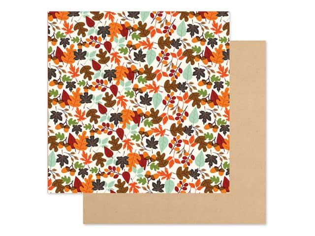 "Echo Park Collection My Favorite Fall Paper 12""x 12"" Falling Leaves"