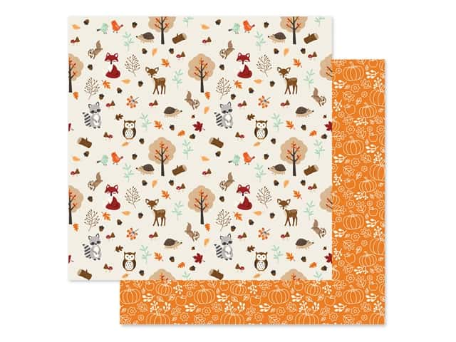 "Echo Park Collection My Favorite Fall Paper 12""x 12"" Fall Friend"