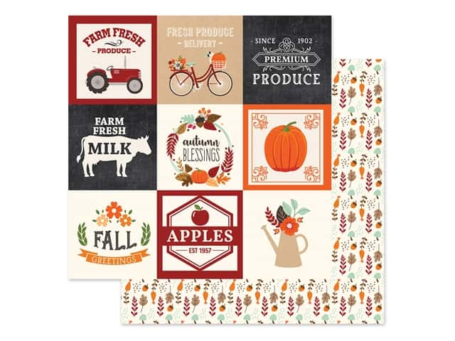 "Echo Park Collection My Favorite Fall Paper 12""x 12"" Journaling Card 4""x 4"""