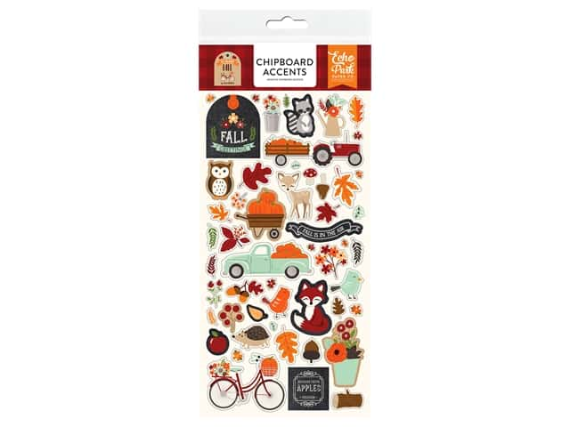 """Echo Park Collection My Favorite Fall Chipboard 6""""x 12"""" Accents"""