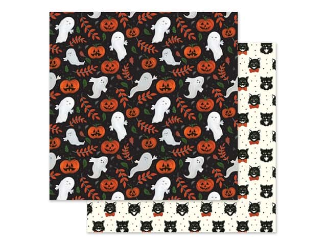 "Echo Park Collection Trick Or Treat Paper 12""x 12"" Spooky Ghosts"