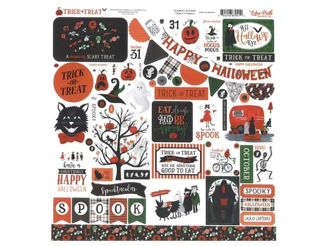 "Echo Park Collection Trick Or Treat Sticker 12""x 12"" Elements"