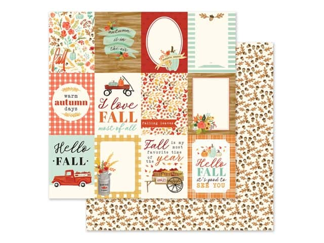 "Carta Bella Collection Fall Market Paper 12""x 12"" Journaling Card 3""x 4"""