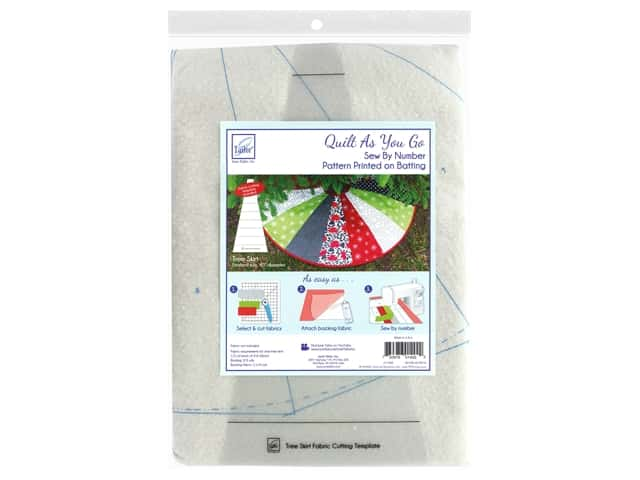 June Tailor Batting Quilt As You Go Cotton/Polyester Tree Skirt 40  in.