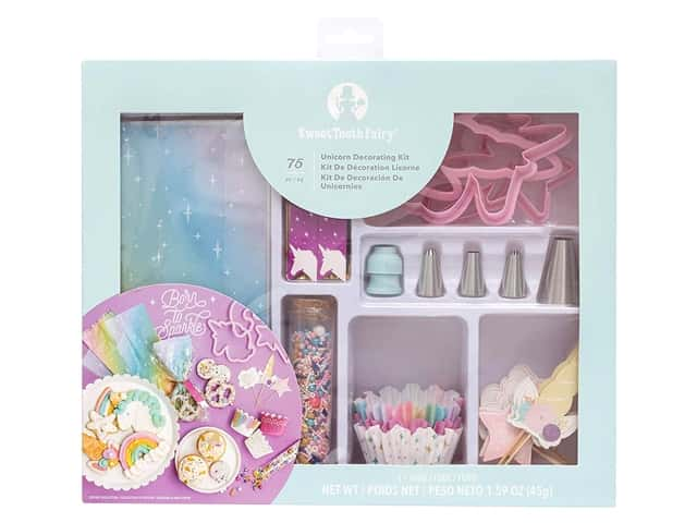 American Crafts Collection Sweet Tooth Fairy Decorating Kit Unicorn 75 pc